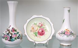 Sale 9256H - Lot 66 - A group of three Royal Albert ceramics including two bud vases and a display pin dish, tallest H15cm.