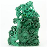 Sale 8379 - Lot 98 - Malachite Lidded Vase
