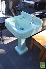 Sale 8390 - Lot 1357 - Green Pedestal Sink