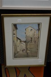 Sale 8453 - Lot 2022 - Artist Unknown (XX) (Italian School) - Italian Village Scene 33.5 x 20cm