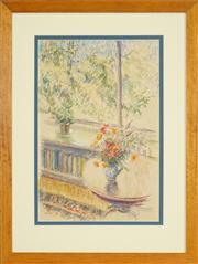 Sale 8449A - Lot 585 - Jean Appleton (1911 - 2003) - Interior Scene 44 x 29cm