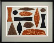 Sale 8459 - Lot 526 - John Coburn (1925 - 2006) - Uluru, 1990 49.5 x 69.5cm