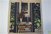 Sale 8578T - Lot 2024 - David Preston (1948 - ) - Interior Scene, c1980s 63.5 x 33.5cm (sheet size)