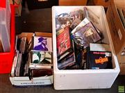 Sale 8582 - Lot 2333 - 2 Boxes of CDs and DVDs