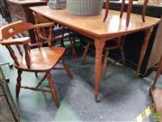Sale 8611 - Lot 1029 - Timber 5 Piece Dining Suite