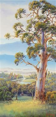 Sale 8773 - Lot 503 - John Bradley (1945 - ) - Murray Valley Gum, 1995 58.5 x 29cm
