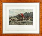 Sale 8871H - Lot 180 - Sheldon Willliams, Ed Hester Published by JF McQueen, Regent St  Gone Away and A Hunting Morning frame size 69cm x 81cm