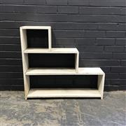 Sale 8988 - Lot 1053 - White-Painted Timber Stepside Bookcase (84 x 84cm)