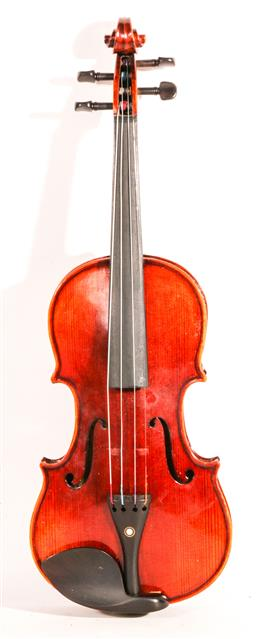 Sale 9136 - Lot 86 - A violin in case with bow