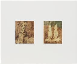 Sale 9195 - Lot 525 - SIDNEY NOLAN (1917 - 1992) (2 works) - Classical Figure Studies 28.5 x 23.5 cm, each (frame: 86 x 103 x 4 cm)
