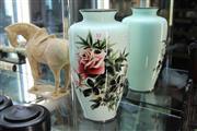 Sale 8308 - Lot 12 - Japanese Enamelled Floral Vase