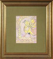 Sale 8459 - Lot 532 - Donald Friend (1915 - 1989) - Untitled (Geruda) 20 x 14.5cm