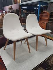 Sale 8676 - Lot 1108 - Pair of Reproduction Dining Chairs