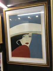 Sale 8702 - Lot 2037 - Artist Unknown - Glamour print, ed. 27/330, 127 x 97cm, signed lower right -