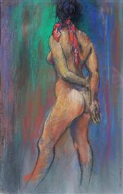 Sale 8938 - Lot 601 - Paul F. Williams - The Red Bandana 46.5 x 29.5cm (frame: 74 x 55 x 4 cm)