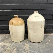 Sale 8988 - Lot 1032 - Demijohns (2) - both repaired (H: 45cm tallest)
