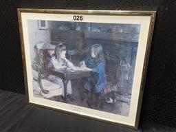 Sale 9053 - Lot 2070 - Walter Osborne, Card Builders, decorative print, frame: 57 x 67cm