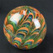 Sale 8402D - Lot 77 - Murano Castellani Swirl Paperweight (Height - 8cm)