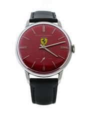 Sale 8406A - Lot 15 - Vintage Girard Perregaux wristwatch with Ferrari painted dial, hand winding, fine Swiss manual wind movement, signed Girard Perregau...