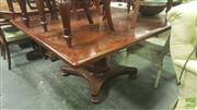 Sale 8428 - Lot 1047 - Early 19th Century Mahogany Supper Table, with gun barrel pedestal