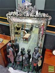 Sale 8424 - Lot 1004 - Venetian Style Mirror (103x180)