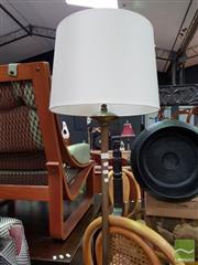 Sale 8480 - Lot 1041 - Brass Base Standard Lamp