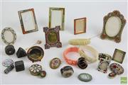 Sale 8490 - Lot 96 - Collection of Italian Micro-Mosaic Frames & Brooches with 2 Miniature Cameo Pins