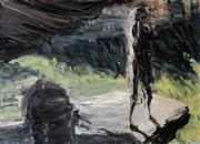 Sale 8787A - Lot 5015 - Euan Macleod (1956 - ) - Ledge with Overhang, 1991 56.5 x 77.5cm