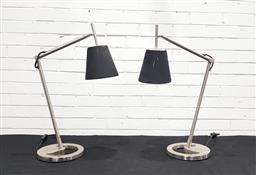 Sale 9112 - Lot 1055 - Pair of modern metal table lamps (h70cm)