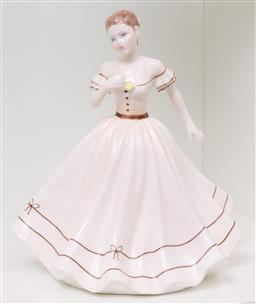 Sale 9256H - Lot 90 - A Coalport Ladies of Fashion series figure of  Geraldine, H20.5cm.