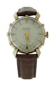 Sale 8406A - Lot 16 - Vintage Bulova wristwatch, in fancy gold filled case, hand winding, 17 jewels, 29 mm, in working order - not serviced