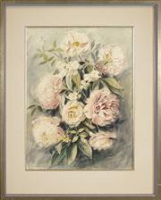 Sale 8449A - Lot 591 - Paul Jones (1921 - 1997) - Peonies, 1960 49 x 37cm