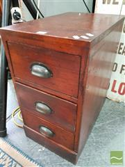 Sale 8480 - Lot 1056 - Mahogany Bedside with Three Drawers