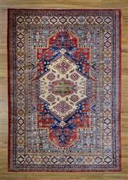 Sale 8566C - Lot 96 - Super Afghan Kazak 240cm x 167cm
