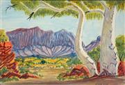 Sale 8683 - Lot 566 - Hilary Wirri (1959 - ) - Near Haasts Bluff 28 x 41cm