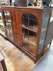 Sale 8740 - Lot 1020 - Glass Front Dwarf Bookcase