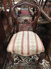 Sale 8822 - Lot 1574 - Set of 8 Carved Balloon Back Dining Chairs