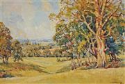 Sale 8938 - Lot 598 - Rhys Williams (1894 - 1976) - Town Autumn Landscape - Pomare, Cobbitty 54.5 x 81 cm