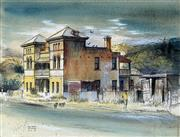 Sale 8939A - Lot 5017 - Kenneth Jack (1924 - 2006) - Old Hotel, Picton NSW 1972 23.5 x 30.5 cm