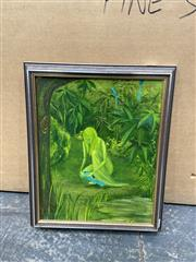 Sale 9072 - Lot 2090 - C. Gentle Green Maiden, oil on canvas board, frame: 44 x 36 cm, signed lower right -