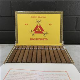Sale 9089W - Lot 7 - Montecristo No. 4 Cuban Cigars - box of 25, stamped May 2016