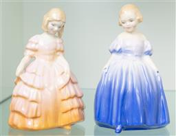 Sale 9256H - Lot 92 - Two Royal Doulton figures of Marie (HN1370) and Rose (HN1368), H12.5cm.