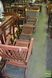 Sale 8337 - Lot 1026 - Pair of Teak Deck Chairs