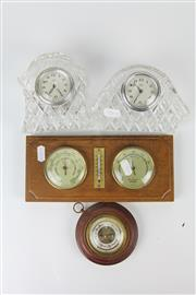 Sale 8403 - Lot 60 - Crystal Clocks & Barometers