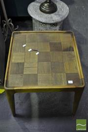 Sale 8472 - Lot 1014 - Pair of Timber Parquetry Side Tables