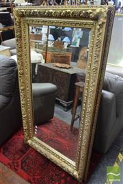 Sale 8507 - Lot 1072 - Gilt Framed Rectangular Bevelled Edge Mirror (146 x 86cm)