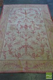 Sale 8520 - Lot 1065 - Laura Ashley Aubusson Style Rug with Pink Floral Arabesques on a Cream Field 232 x 156cm)