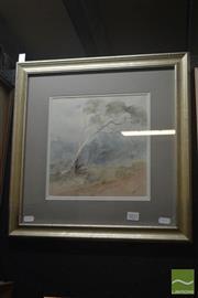 Sale 8525 - Lot 2021 - R. Sidney Cocks (1865 - 1939) - Tree in the Wind 23.5 x 23.5cm
