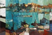 Sale 8565 - Lot 558 - Reinis Zusters (1919 - 1999) - Harbour Landscape 90 x 136cm
