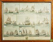 Sale 8604 - Lot 2088 - 2 Works: Timber Framed Decorative Prints of Ships